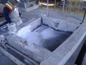 Anode mold line with Metpump HP4 Cu.